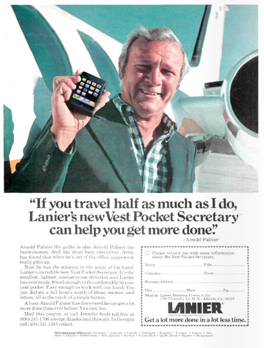 Arnold Palmer IPhone