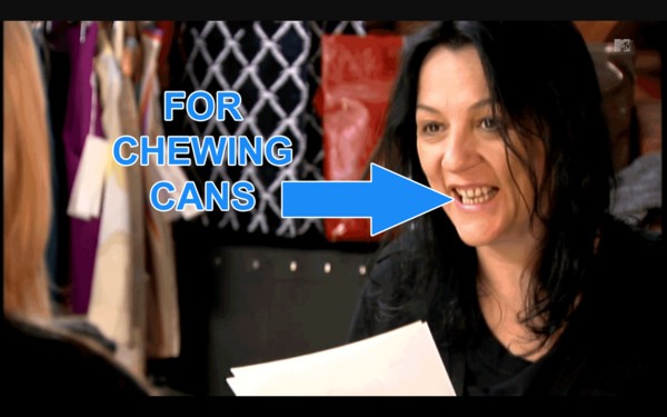 Kelly Cutrone's Goat Teeth