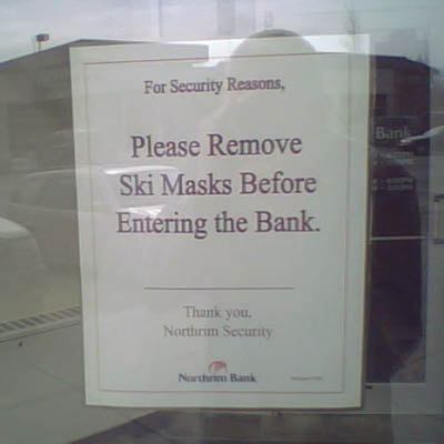 Attn: Bank Robbers