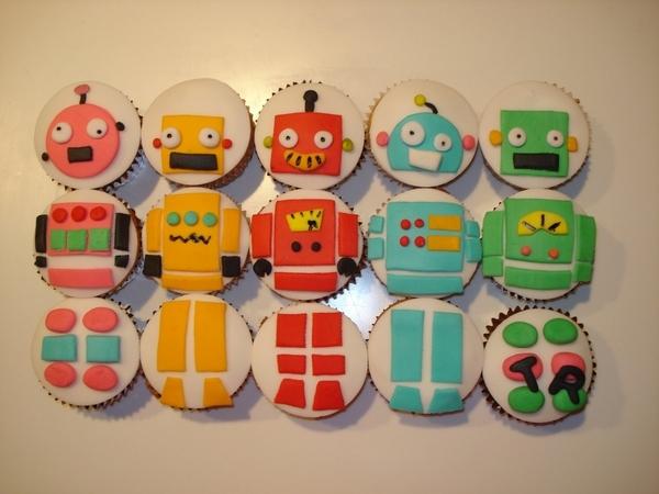 Robot Cupcakes!