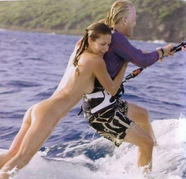 Sir Richard Bramson and Nude Kite Surfer Denni Parkinson! NSFW