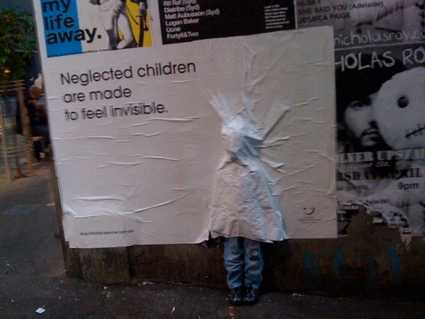 Creepy Neglected Children Ad