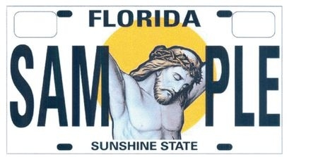 Florida's New Jesus Christ License Plate