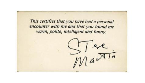 Steve Martin's Business Card