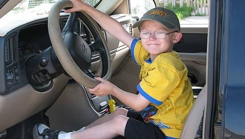 Boy Takes Wheel After Father Passes Out