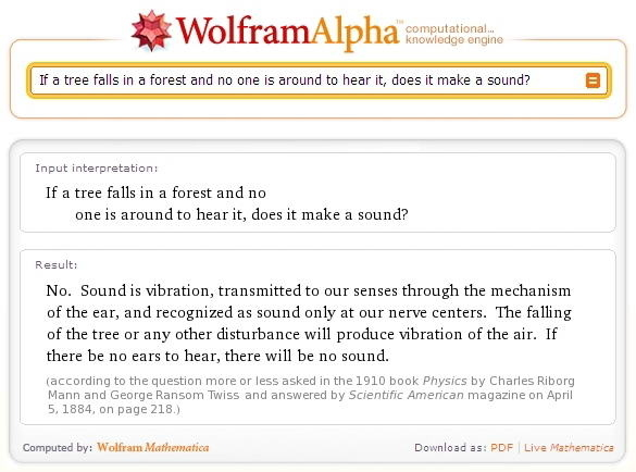 Wolfram Answers Life's Toughest Questions