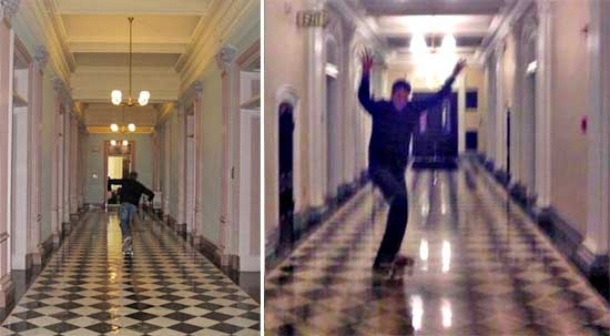 Tony Hawk Skateboards Thru the White House