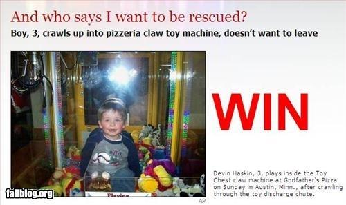 kid stuck in claw machine