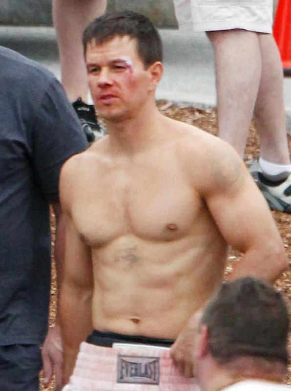 Mark Wahlberg Bruised and Shirtless