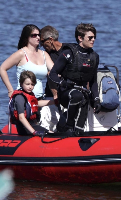 Zac Efron's Scuba Diving in Canada Getaway