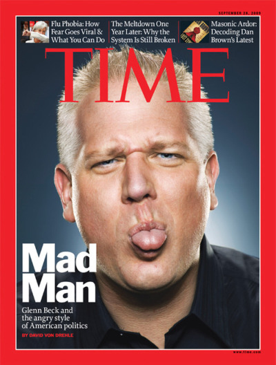 Glenn Beck Confirms He's a Dick Head By Showing Penis Tongue