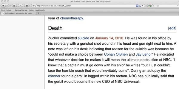 Jeff Zucker's Suicide