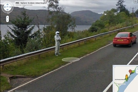 Top Gear's Stig Found On Google Street View At Loch Ness