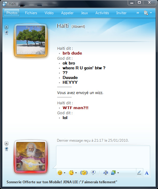 Haïti Vs God