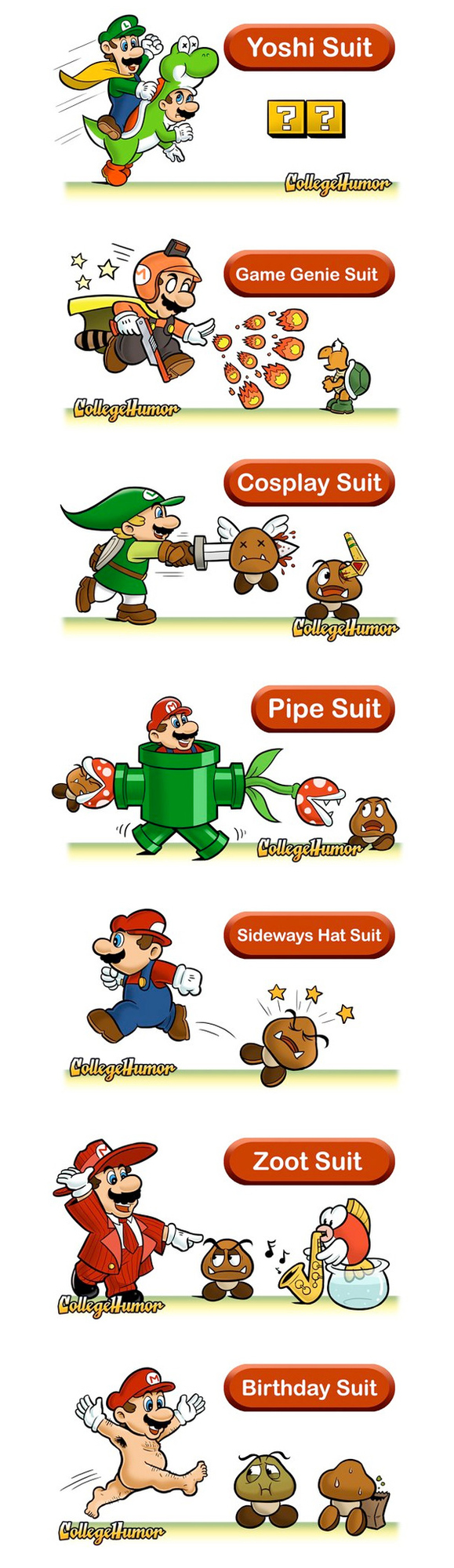 Seven Mario Suits That Should Exist