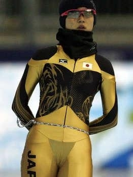 Olympic Speed Skater's G-String Suit