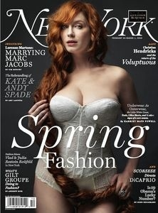 Christina Hendricks Big Boobs Cleavage in New York Magazine