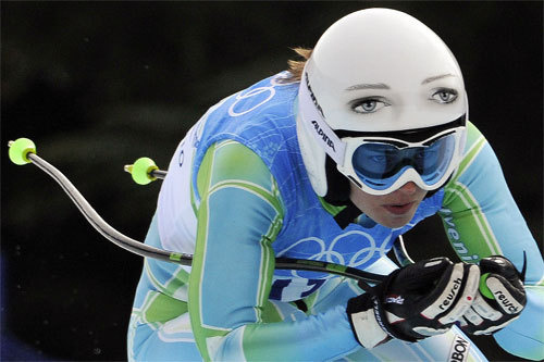 Olympic Helmet Winner: Slovenian Skier Tina Maze