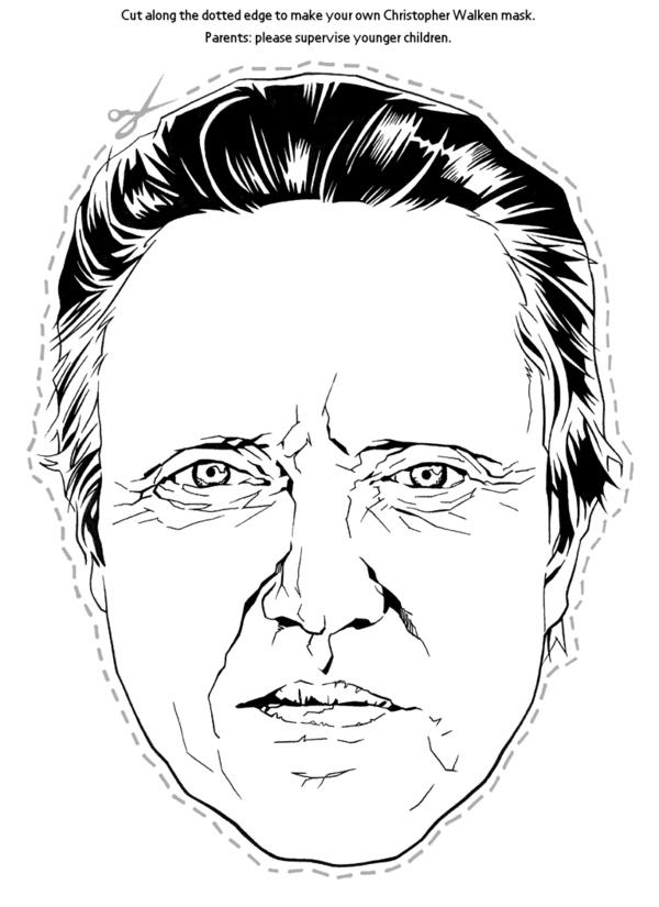 Christopher Walken Cut-Out Mask