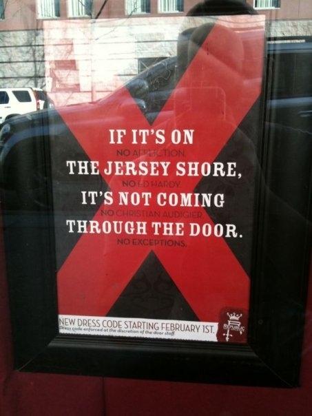 Jersey Shore Discrimination