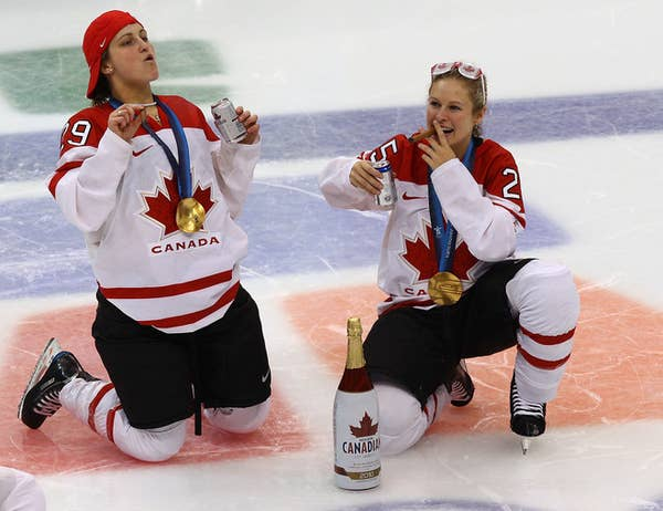 The IOC is considering punishing the team for the excessive celebration.