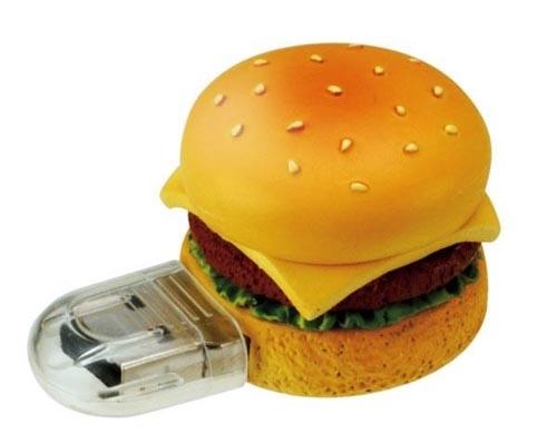Feed Food Like Hamburger USB Flash Drive to Your PC