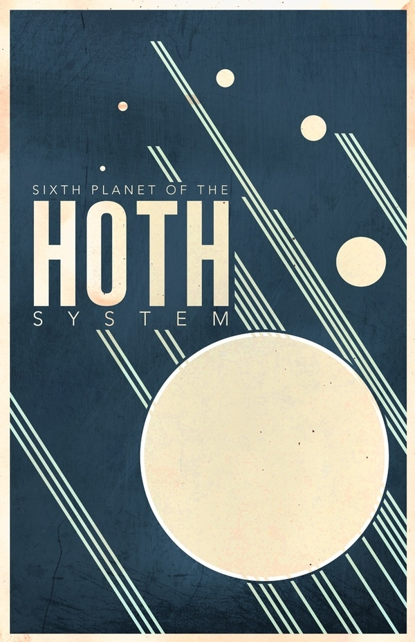 Minimalist Star Wars Galaxy Posters