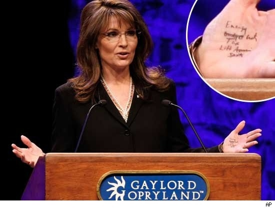 Sara Palin's Tea Party Hand Job Notes!
