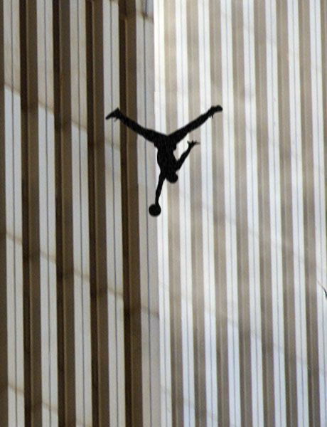 Air Jordan As Falling Man