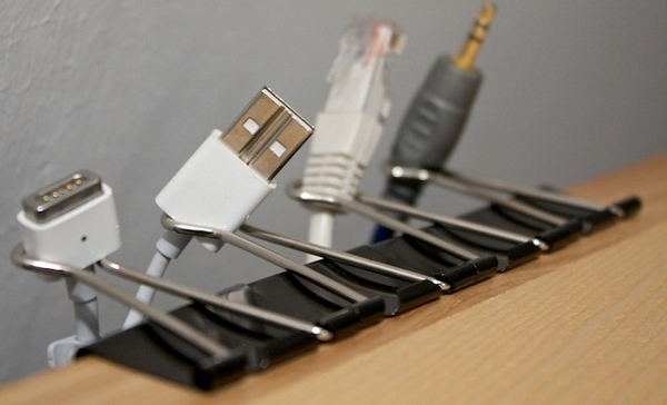Binder Clip Cable Organizers