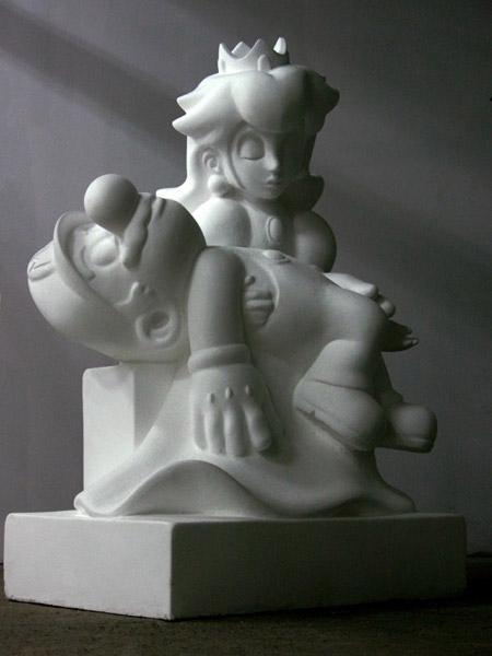 Mario and Peach in 'La Pietà'