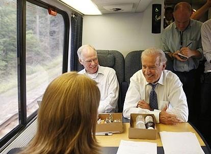 Joe Biden Freaking Loves Riding Trains