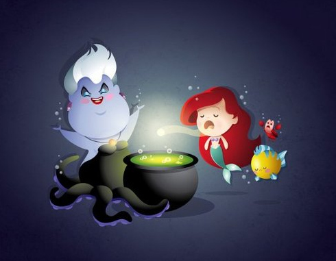 Super-Cute Ariel and Ursula from 'The Little Mermaid'