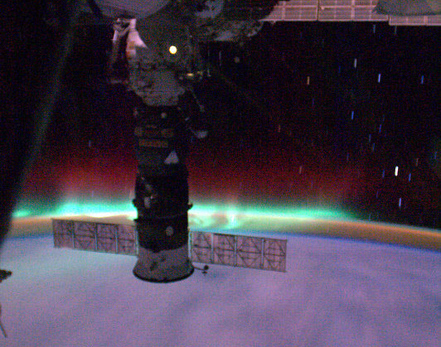 Incredible Space Pic: Flying Into an Aurora