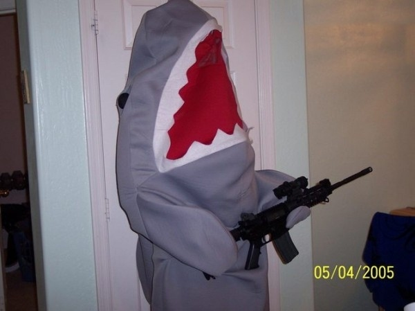 Killer Shark With a Gun