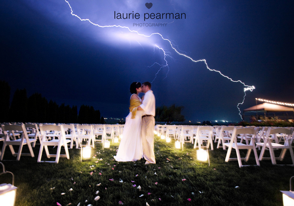 World's Coolest Wedding Photo. Lightning Style.
