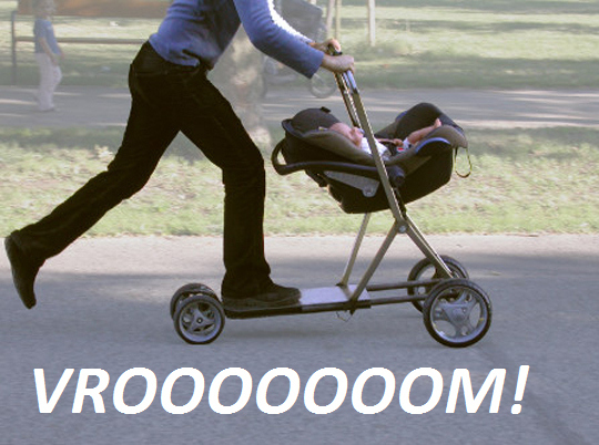 Bad Parenting Idea #153: Stroller Scooter