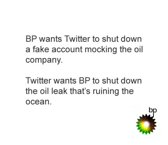 BP Vs. Twitter: Shut Down