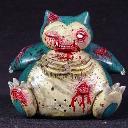 Pokemon of the Dead: Custom Snorlax Zombie Toy