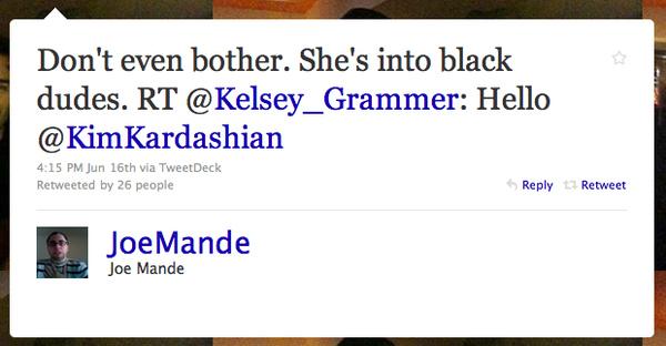 Kelsey Grammer's Twitter Cockblock