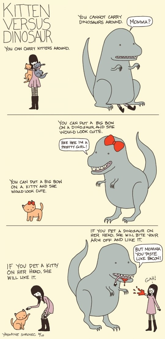 Kittens Vs. Dinosaurs: A Comparison