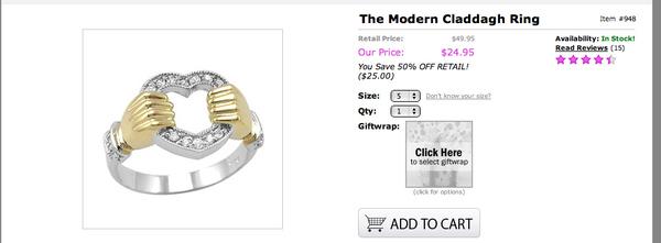 'Modern Claddagh Ring'