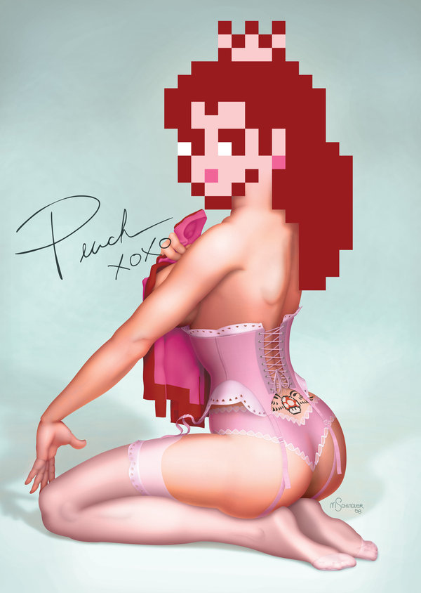 Princess Peach As A Pin-Up