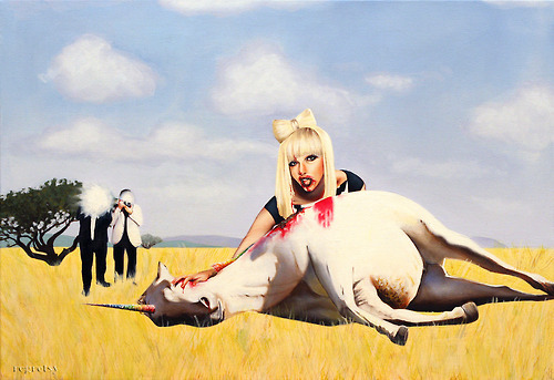 Lady Gaga Devouring A Unicorn Carcass