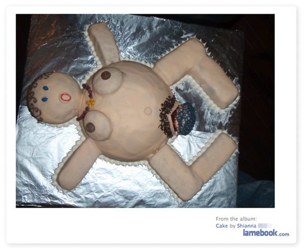 Welcome Baby Home Cake [Sorta NSFW]