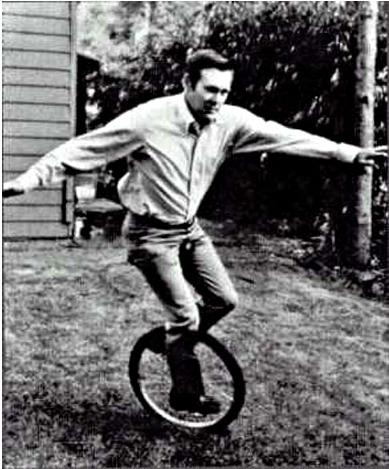 Rumsfeld On A Unicycle