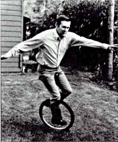 Here's Donald Rumsfeld on a unicycle. You're welcome.
