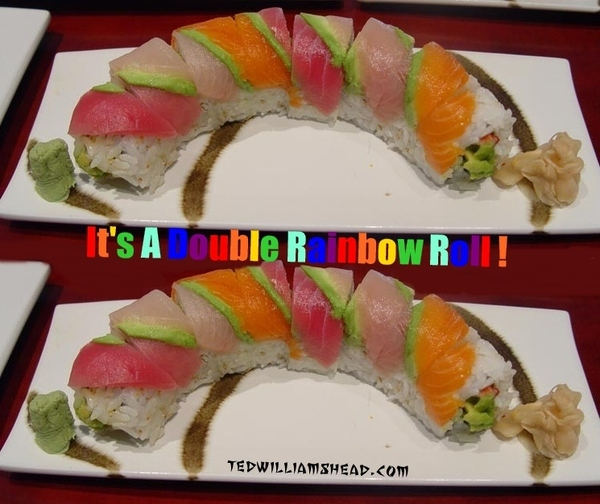 Double Rainbow Roll