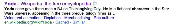 Yoda's Crazy Thanksgiving