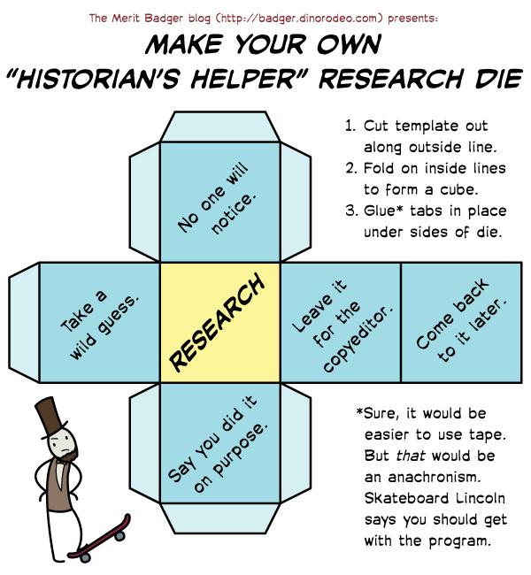 "The ""Historian's Helper"" Research Die"